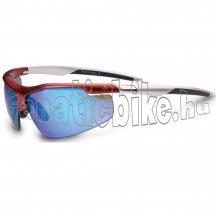 Merida ME14 szemüveg fényes piros, szürke, cserélhető lencsés