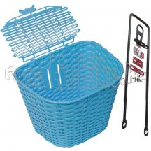 Műanyag első kosár kék