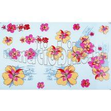 Matrica szett rózsaszín-sárga virágszirmok