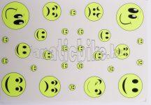 Matrica szett smile neon zöld