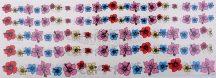 Matrica szett színes virágszirmok