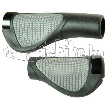 Velotech Ergo 130/95mm tenyértámaszos, bilincses markolat fekete-szürke