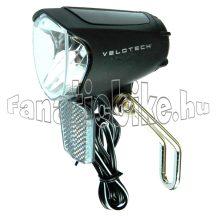 Velotech agydinamós ledes első lámpa prizmával 6V/3W 70 lux