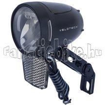 Velotech 90 lux dinamós 3 ledes első lámpa prizmával
