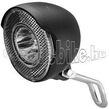 Velotech agydinamós ledes első lámpa 1watt 15Lux fekete
