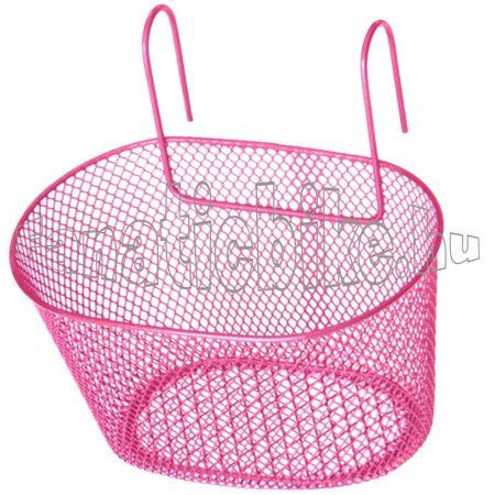 Rózsaszín kicsi fém rácsos kosár