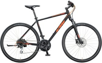 KTM Life Track férfi 51cm black matt (orange) 2020