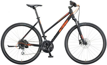 KTM Life Track női 46cm black matt (orange) 2020