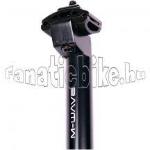 M-Wave 28,6X350mm ALU fejes nyeregcső fekete