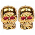 Figurás szelepsapka arany koponya