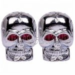 Figurás szelepsapka ezüst koponya