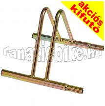 Talajra rögzíthető kerékpártároló