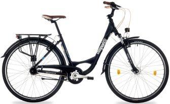 """Csepel Signo 28/19"""" agydinamós N3 női kerékpár fekete"""