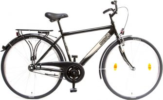 """Csepel Budapest 28"""" kontrafékes férfi kerékpár fekete"""