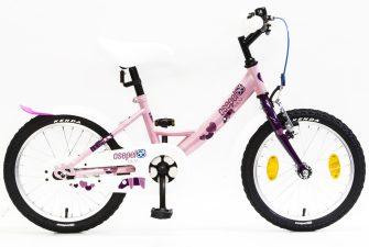 """Csepel Lily 16"""" GR kerékpár rózsaszín, lila szivecske"""
