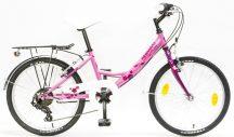 """Csepel Flora 20"""" 6 sebességes rózsaszín"""