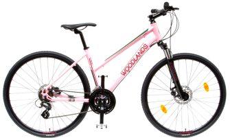 """Csepel Woodlands Cross 1.1 700C 28/17"""" 21sp női rózsaszín"""