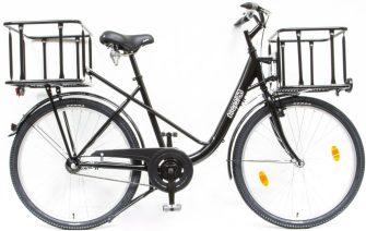 """Csepel Pick Up 26/19"""" kontrafékes teherhordó kerékpár fekete kosárral"""