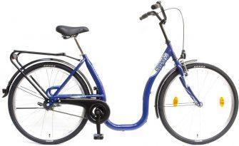 """Csepel Budapest C 26"""" kontrafékes kerékpár kék"""