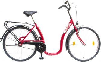 """Csepel Budapest C 26"""" kontrafékes kerékpár piros"""