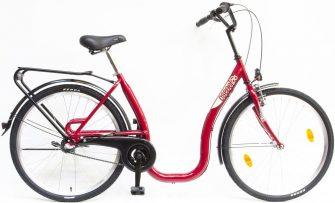 """Csepel Budapest C 26"""" N3 agyváltós kerékpár piros"""