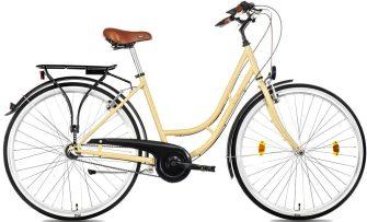"""Csepel Weiss Manfréd 28"""" N3 női kerékpár krém"""