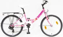 """Csepel Flora 20"""" 6 sebességes rózsaszín pillangó"""