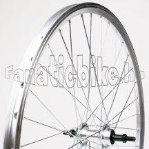 MTB ezüst hátsó kerék Alu duplafalú abroncs, alu agy (18,5-559mm)