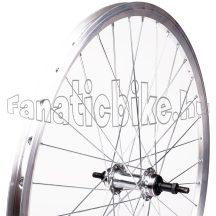 MTB ezüst hátsó kerék Alu duplafalú abroncs, acél agy (18,5-559mm)