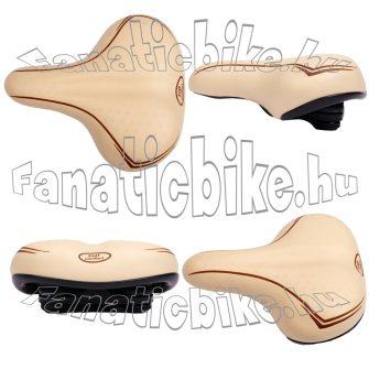 Nyereg női soft comfort elasztomer rugós bézs