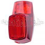 Lámpa hátsó elemes sárvédőre 3 ledes piros