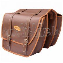 Táska csomagtartóra 2 részes műbőr 30x12x33 cm barna