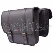 Táska csomagtartóra 2 részes műbőr 30x13x32 cm fekete