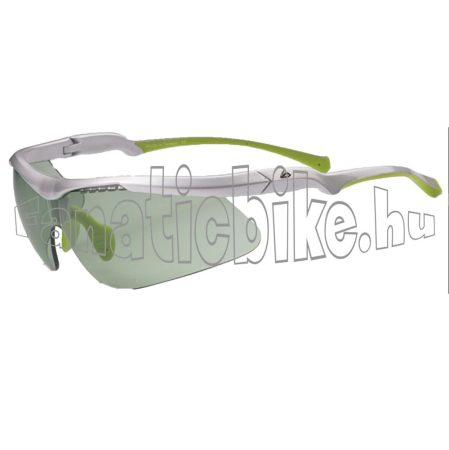Merida szemüveg fényes fehér, zöld lencse