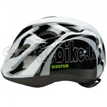 Bikefun Junior fejvédő S 48-52cm fekete-fehér