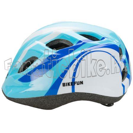 Bikefun Junior fejvédő S 48-52cm kék-fehér