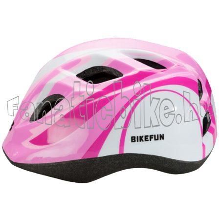 Bikefun Junior fejvédő S 48-52cm rózsaszín-fehér