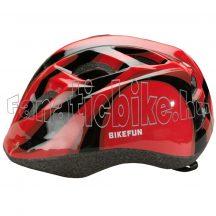 Bikefun Junior fejvédő S 48-52cm piros-fekete
