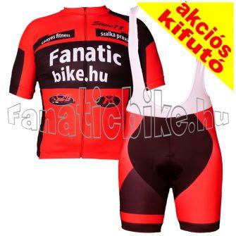 Fanaticbike mez + nadrág M piros-fekete