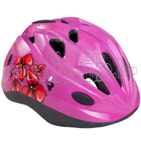 Bikefun Moxie fejvédő virágos rózsaszín