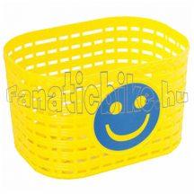 Műanyag kosár gyerek kerékpárra sárga