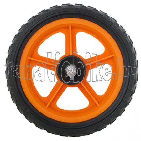 """12""""-os műanyag első kerék fekete-narancs"""