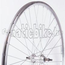 MTB ezüst duplafalú abroncsos hátsó kerék (19-559mm)