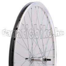 MTB ezüst duplafalú abroncsos első kerék (19-559mm)