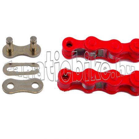 KMC Z-410 1 sebességes 1/2X1/8 110 szem lánc piros + patentszem