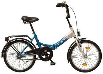 """Koliken Camping 20"""" kontrafékes kerékpár kék-ezüst"""