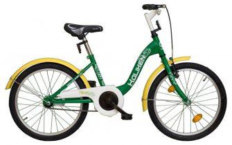 """Koliken Traki 20"""" kontrás fém sárvédős kerékpár zöld"""