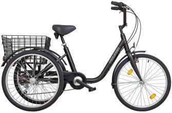 """Koliken Gommer 24"""" háromkerekű kontrafékes kerékpár fekete"""