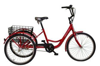 """Koliken Gommer 24"""" háromkerekű kontrafékes kerékpár piros"""