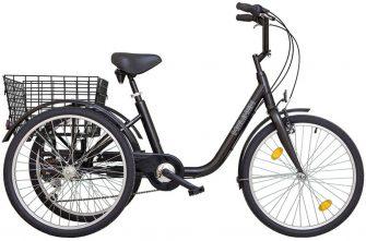 """Koliken Gommer 24"""" háromkerekű 6 sebességes kerékpár fekete"""